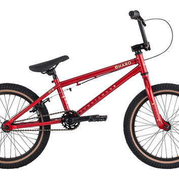 "2015 Haro Downtown 18"" Bmx Bike Red"
