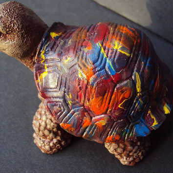 Statuary Stone Baby Turtle Hippy ooak Use by MountainArtCasting
