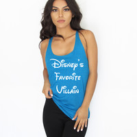 Disney's Favorite Villain Women's Loose Racerback Tank