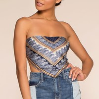 Seashore Bandana Top - Navy