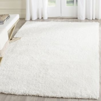 Safavieh Handmade Malibu Shag White Polyester Rug (8' x 10') | Overstock.com Shopping - The Best Deals on 7x9 - 10x14 Rugs