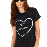 Missguided - Aliana Not Yours Acid Wash Tee