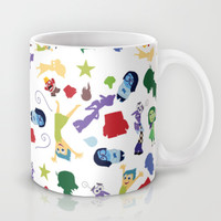 character pattern inside out Mug by Studiomarshallarts