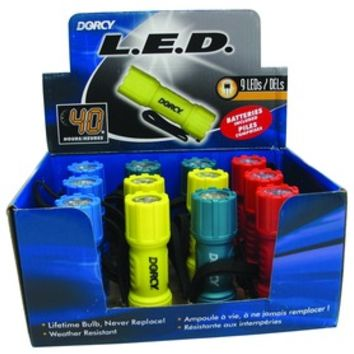 Opentip.com: Dorcy Led Compact Flashlight Display - 9 Led/12 Piece