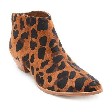 DCCKAB3 Coconuts by Matisse Aida Leopard Suede Ankle Booties