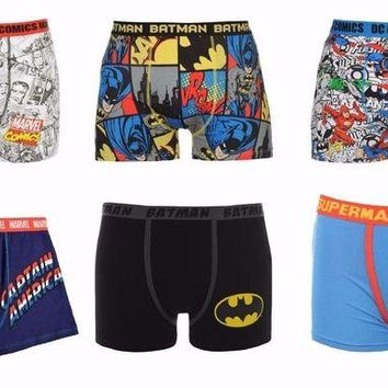 DCCKIN4 MEN'S SUPERHERO BOXER SHORTS UNDERWEAR