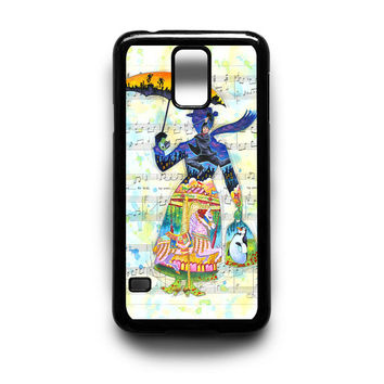 Mary Poppins Art Samsung Galaxy S3 S4 S5 Note 2 3 4 HTC One M7 M8 Case