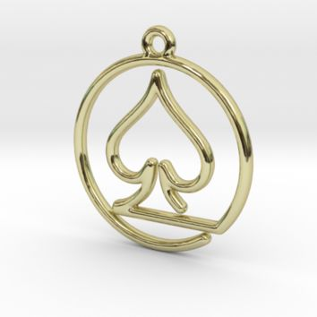 Pike Card Game Pendant by Jilub on Shapeways