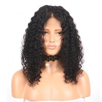 Brazilian Curly Short Lace Front Human Hair Wig Pre Plucked With Baby Hair