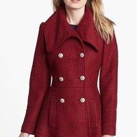 GUESS Double Breasted Bouclé Coat (Regular & Petite) | Nordstrom