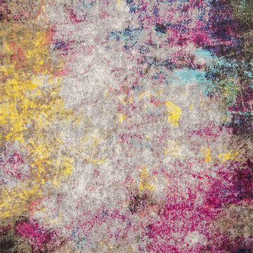 9938 Multi Color Abstract Contemporary Area Rugs