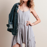 Fearless Heart Dress In Gray