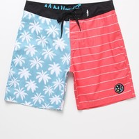 Maui & Sons Tropiworks Boardshorts - Mens Board Shorts - Red/White/Blue