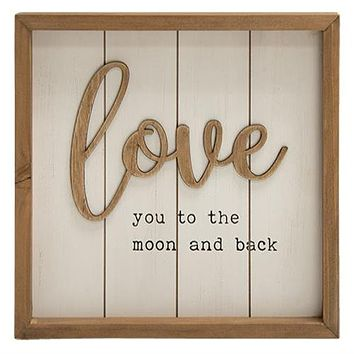 Love You to the Moon and Back Framed Sign