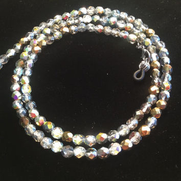Czech Multicolored Beads Eyeglass Chain