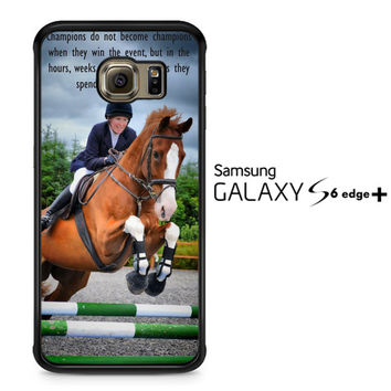 horse jumping photography Y2410 Samsung Galaxy S6 Edge Plus Case