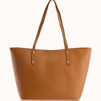 GiGi New York Taylor Tote Saddle Pebble Grain Leather