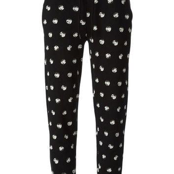 DCCKIN3 Moschino Cheap & Chic printed track pant