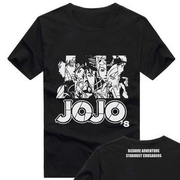 Plus size S-3XL Anime JoJo's Bizarre Adventure Cotton T-shirt cosplay t shirt Top Teen Tee in stock free shipping NEW