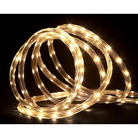 150' Commericial Grade Warm White LED Indoor/Outdoor Christmas Rope Lights on a Spool