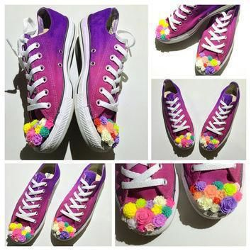 the original flower child ombre tie dye low top custom converse