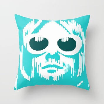 Cobain Kurt Throw Pillow by g-man
