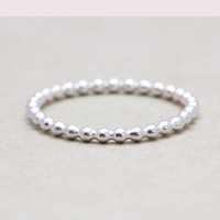 Handmade Tiny dot stacking ring, bubble ring, beads ring in 925 sterling silver