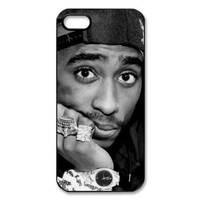 RAPPER 2Pac Tupac Shakur Hard Plastic Back Protective case for iphone 5, 5s