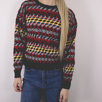 Vintage Cropped Aztec Sweater