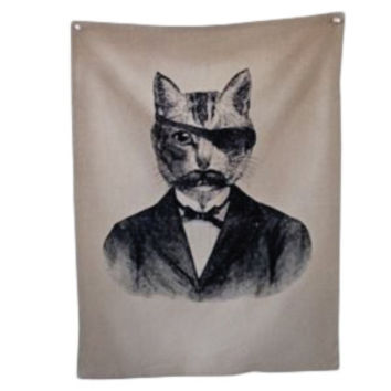 Bandit Cat Tea Towel