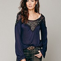 Free People  Blue Sky Banded Top at Free People Clothing Boutique
