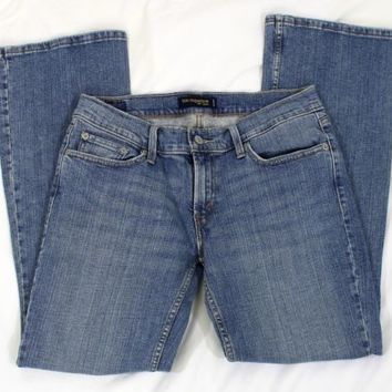 Levi Strauss 524 Womens Jeans Size 9 Short Too Superlow Blue Denim Juniors