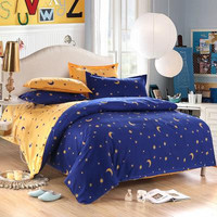 !! china bedding set twin Full Queen size duvet cover set reactive printed bed linen flat sheet bedclothes not quilt