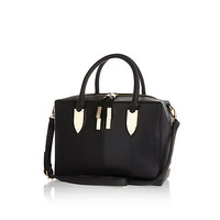 River Island Womens Black boxy bowler bag