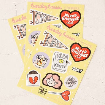 Tuesday Bassen Sticker Set | Urban Outfitters