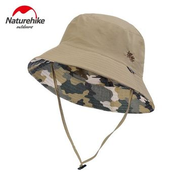 NatureHike UV-Protective Foldable Beach Men Women Summer Cap Hats Outdoor Hiking Hat Man  With Wind Rope Fishing Traveling Caps