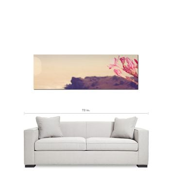 Panoramic Canvas - Pink and Brown - Pink Flower Canvas - Pink Flower Photo - Home Decor - Floral Wall Art - Large Canvas - 20 x 60 Canvas