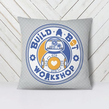 "Build A Bot 18""x18"" Double-Sided Print Pillow"