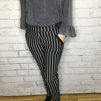 Dance With Me Striped Pants