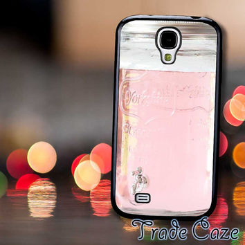Pink Glass Mason Jar,Accessories,Case,Cell Phone, iPhone 4/4S, iPhone 5/5S/5C,Samsung Galaxy S3,Samsung Galaxy S4,Rubber,19/12/13/Rk