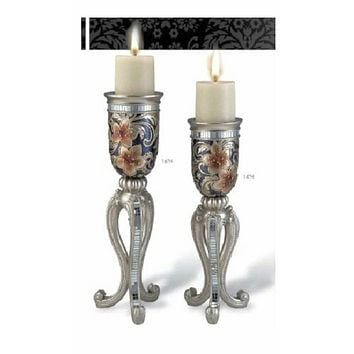 candle holder set of 2 pieces