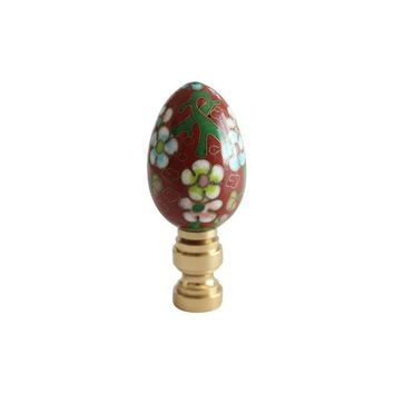 Pre-owned Cloisonne Egg Lamp Finial