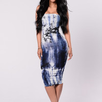 Don't Fall For Me Dress - Navy