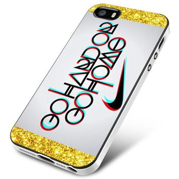 NIKE LOGO QUOTE GO HARD OR GO HOME iPhone 5 | 5S | 5SE Case Planetscase.com