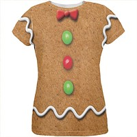 Gingerbread Man Costume All Over Womens T Shirt