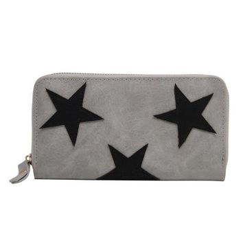 fashion women star wallets long purse zipper large capacity bags ladies coin purse money phone bag card holder clutch wallet