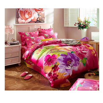 Cotton Active floral printing Quilt Duvet Sheet Cover Sets 2.0M/2.2M Bed Size 23