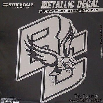 Boston College Eagles Large Silver Metallic Vinyl Auto Decal University