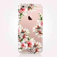 Transparent Floral iPhone Case - Transparent Case - Clear Case - Transparent iPhone 6 - Transparent iPhone 5 - Transparent iPhone 4