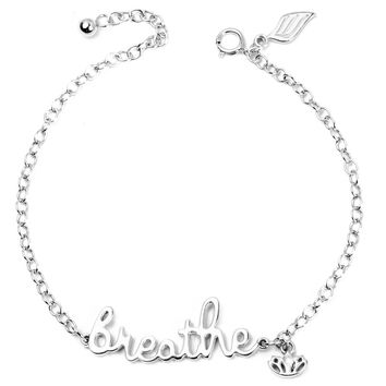 .925 Silver Breathe Diamond Bracelet (Includes 1 Diamond)